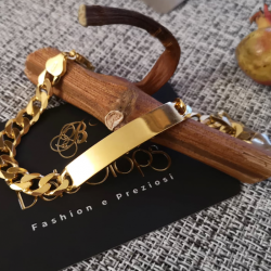 BRACELET WITH PLATE