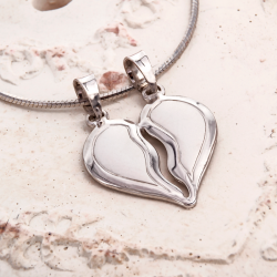 Necklace with Heart for Two