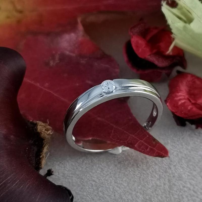 anello solitario da uomo