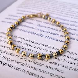 Spheres and Hematite Bracelet
