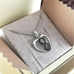 Necklace with Heart & Infinity