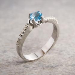 Swiss Blue Ring