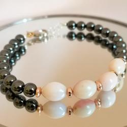 Hematite and Opal bracelet