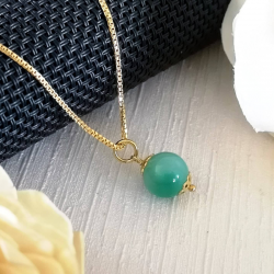 Necklace with Green Agate