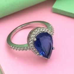 Sapphire Zircon Ring