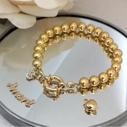 Gold Beads Bracelet